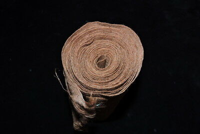 Old Brown Colour Angora Goat Mohair Fabric Wrapped Around Wais Belt