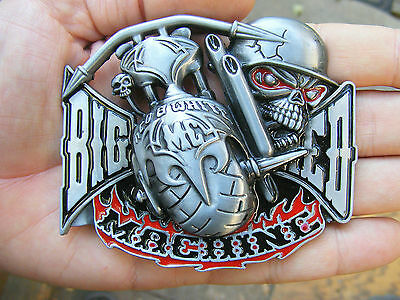 Support HELLS ANGELS Belt Buckle MC Motorcycle CLUB Chopper 1% Outlaw RARE MINT