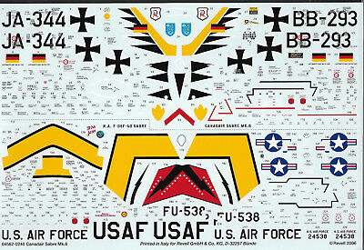 Decals CL-13 Sabre Mk.6, Revell 04562, 1:48