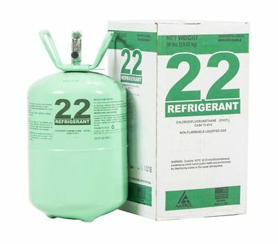 R-22 Refrigerant Sealed 30 lb cylinder - FREE & FAST SHIPPING (Made in USA)