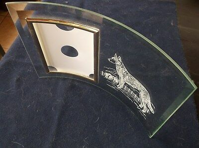Belgian Malinois- Hand engraved Freestanding Photo Frame by Ingrid Jonsson