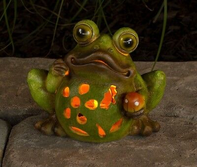 Great Frog Solar Powered Garden Decor Light