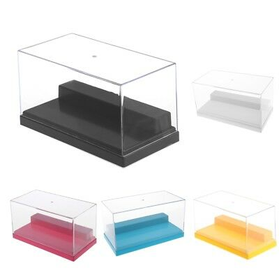 Display Case Box Show Case w/ Black Base for Diecast Car Models Figure Doll Toy