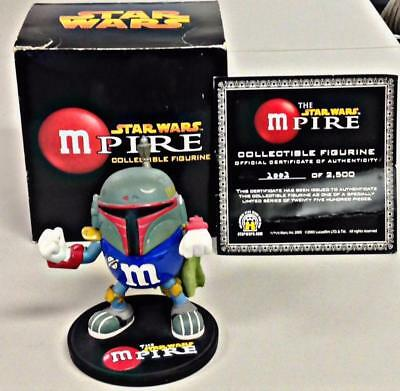 2005 M&M Star Wars MPIRE * BOBA FETT * Collectible Figurine LE /2500 w/ COA +Box