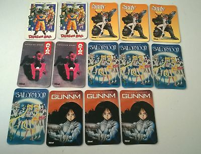 Lot de 14 cartes calendrier 1996-1997 dragon ball z, sailormoon,akira, Gunnm
