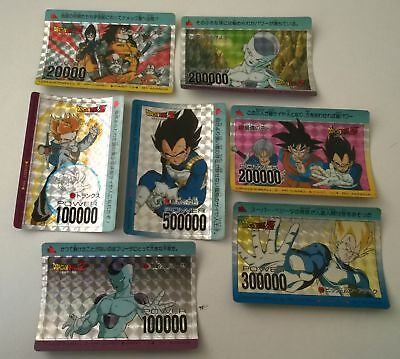 Lot de 7 cartes dragon ball z prism pp card