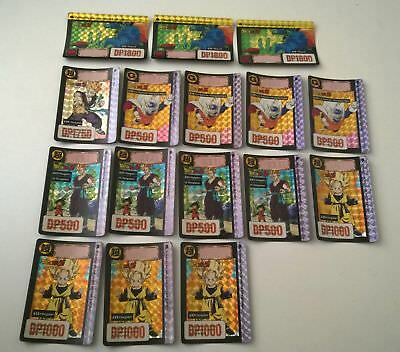 Lot de 16 cartes dragon ball z Prism Carddass FR