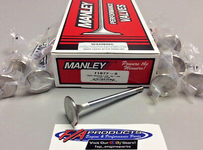 "Manley 11877-8 1.600"" Small Block Chevy Race Master Exhaust Valves Set Of 8"