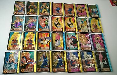 Lot de 42 cartes dragon ball z Prism Carddass Hondan