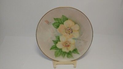 Hand Painted Plate by Herberta P Lewman - Probably on a German or French Blank