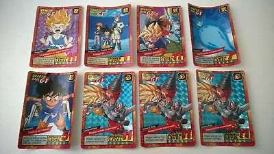 Lot de 7 cartes dragon ball z Carddass le grand combat (Lire l'annonce)