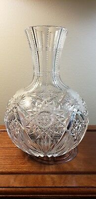 Lovely Vintage cut crystal wine/water decanter