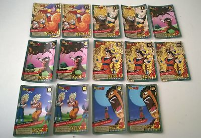 Lot de 14 cartes dragon ball z Carddass le grand combat (Lire l'annonce)