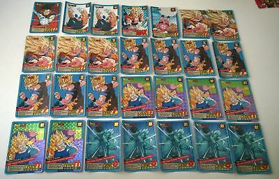 Lot de 28 cartes dragon ball z Carddass le grand combat (Lire l'annonce)