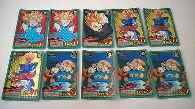 Lot de 10 cartes dragon ball z Carddass le grand combat (Lire l'annonce)