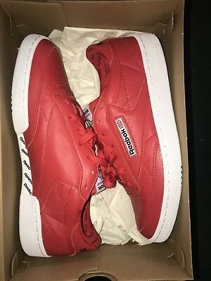 3391d558a4e1 REEBOK CLUB C 85 SO BS5212 CLASSIC MEN S SHOES SNEAKERS RED WHITE Size US 10