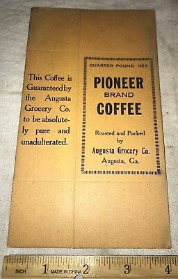 Antique Pioneer Coffee Unused Box Augusta Grocery Georgia Vintage Old Ga Store