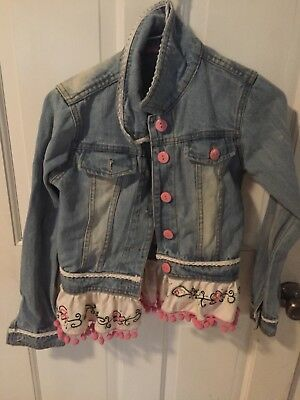 Beautiful jelly the pug size 12 blue jean jacket new with tags