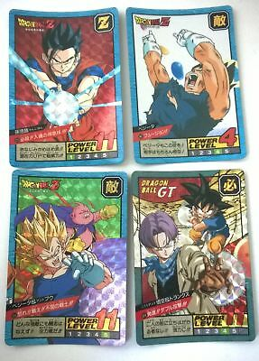 Lot de 4 cartes dragon ball z super battle dédoublables