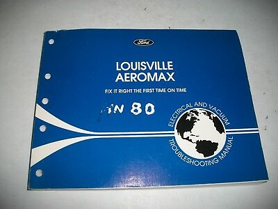1996 Ford Louisville Aeromax  Truck Electrical Evtm Troubleshooting Manual