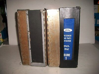 1949-1961 Ford Mercury Edsel Master Parts Catalog 2 Volumes Complete Set Huge!!