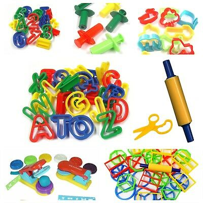 Dough Cutters Alphanet Letters,Numbers,Animals, Food, Rolling Pin and more