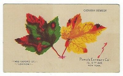 Pond's Extract late 1800's medicine trade card #F variation (1 of 3)
