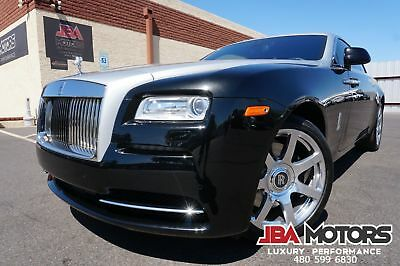 Rolls-Royce Wraith 2014 Wraith Coupe Starlight Headliner 1 Owner 14 Black Rolls-Royce Wraith Coupe Highly Optioned like 2012 2013 2015 2016 Ghost