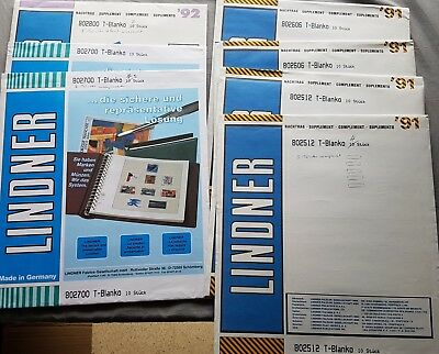 Lindner t-blanko 5-8 Compartment Subjects 802 512 606 700 800 56 Piece Mostly