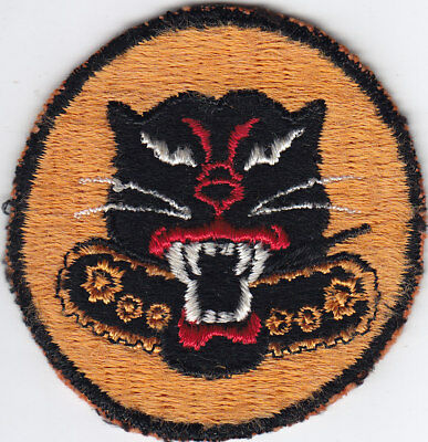 Original WWII US Army Tank Destroyer Patch - Rare 6-Wheel Version, Ribbed Weave