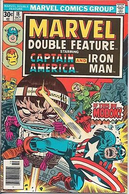 Marvel Double Feature Starring Captain America And Iron Man #18 Oct 1976