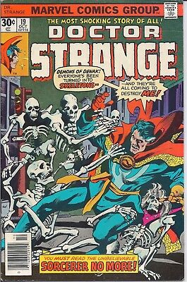 "Marvel Comics Stan Lee Presents Doctor Strange #19 Oct 1976 ""sorcerer No More!"""