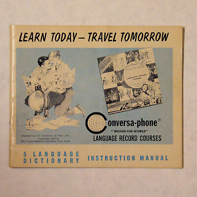 5 Language Conversa-phone Dictionary Instruction Manual Copyright 1957
