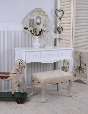 Wall Bracket Console Country Style White Vanity Make-Up Table Antique Baroque