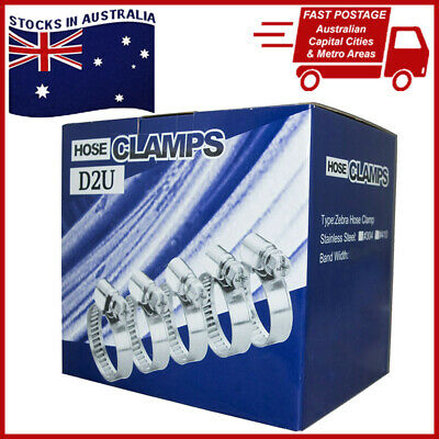 Stainless Steel Hose Clamps Assorted Size (Box's of 100)
