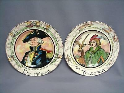 "Royal Doulton ""the Falconer"" D.6279 & ""the Admiral"" D.6278 Professionals Plates"