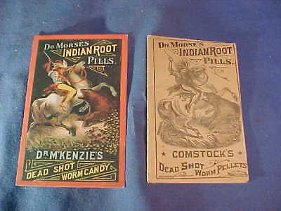 19thc DR MORSES INDIAN ROOT PILLS Advertising BOOKLET + TRADE CARD