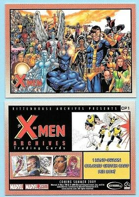 Marvel X-Men Archives promo card card. Card # CP1.  Excellent Condition. 2009
