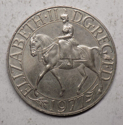 Great Britain 1977 25 Pence (1 Crown) Coin - Silver Jubilee