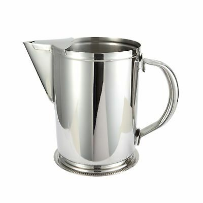 BRAND NEW * Winco WPG-64, 64-Ounce Water Pitcher with Ice Guard, Stainless Steel