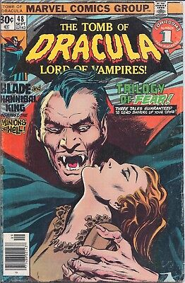 Marvel Stan Lee Presents The Tomb Of Dracula #48 Sept 1976-Blade & Hannibal King