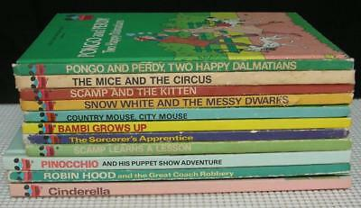 Vintage Lot of 11 WALT DISNEY'S Wonderful World of Reading CHILDRENS BOOKS