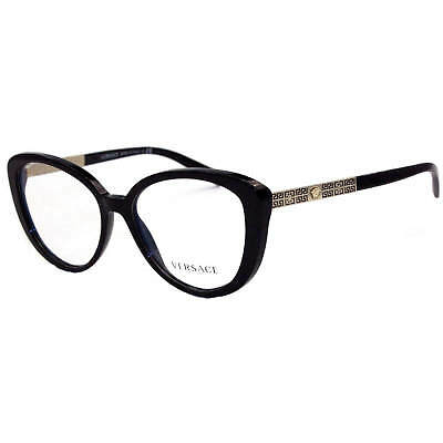 384d8c61b4a08 VERSACE EYEGLASSES MOD 3229 GB1 Black Gold -  77.90
