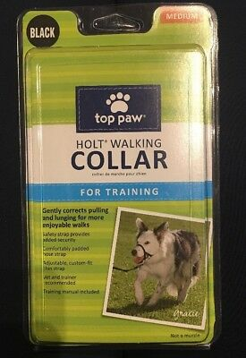Top Paw HOLT Headcollar for Training Dogs and Correcting Pulling MEDIUM BLACK