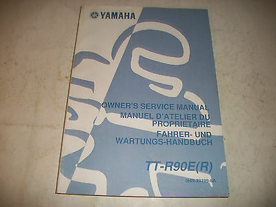 2003 Yamaha Tt-R90E(R)  Motorcycle Owners Service Shop Manual Clean More Listed