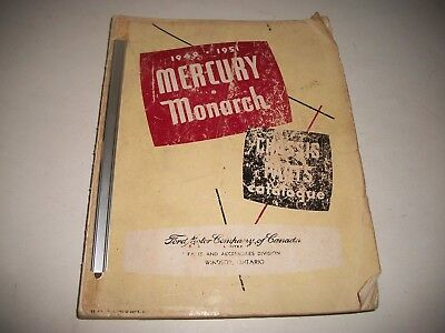 1949 1950 1951 Mercury & Monarch Illustrated Chassis Parts Catalog  Cdn Issue