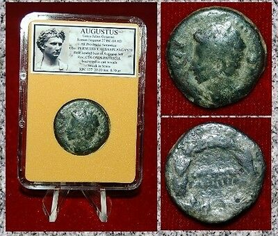 Roman Empire Coin AUGUSTUS Struck In COLONIA PATRICIA,SPAIN Augustus On Reverse