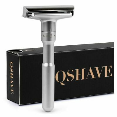 Razor Double Edge Classic Safety Shaving Blades Traditional Chrome Mens Shaver S