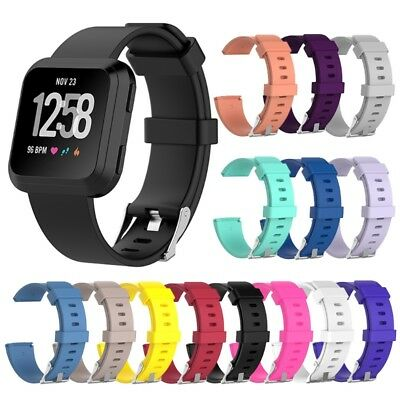 Silicone Wrist Band Clasp Strap Replace For Fitbit Versa Smart Watch Bracelet