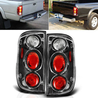 Tail Lights Replacement for 2001-2004 Toyota Tacoma Black Clear Rear Lamps PAIR